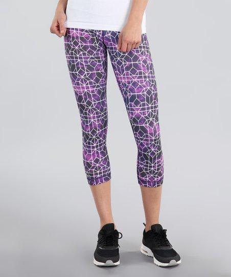 f187134c25602 love this product Purple Mystic Honeycomb Capri Leggings - Women
