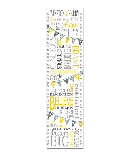 Finny And Zook Yellow Twin Rules Personalized Growth Chart Zulily