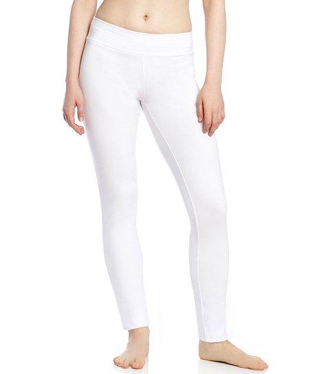 844b838374 love this product White Bootcut Yoga Pants - Women