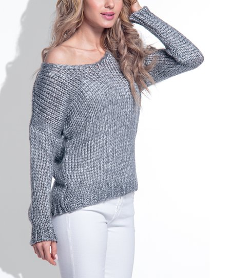 2fce48915c7 love this product Silver Ribbed Off-Shoulder Sweater