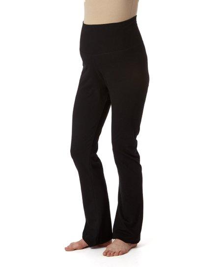 e0e282540e3 Mom   Co Black Fold-Over Maternity Yoga Pants - Plus Too