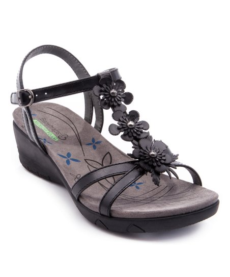 31ea603c3486 BareTraps Black Hammond Wedge Sandal