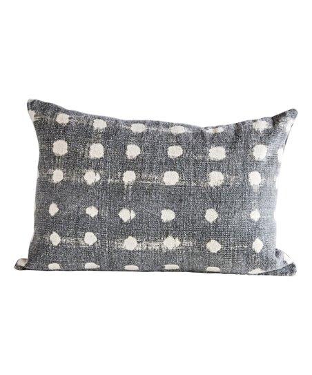 16 X 24 Charcoal Polka Dot Throw Pillow