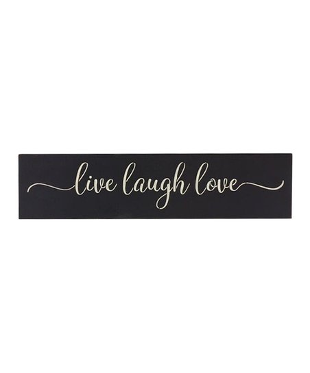 Saras Signs Black Live Laugh Love Wall Art Best Price And Reviews Zulily,Country Farmhouse Kitchen Lighting Ideas
