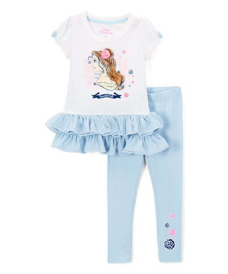 1f3d7b25d36e4 Happy Threads Disney Princess Belle Ruffle Top & Leggings - Toddler ...