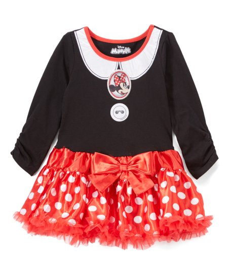 Childrens Apparel Network Minnie Mouse Black Dress Toddler Girls
