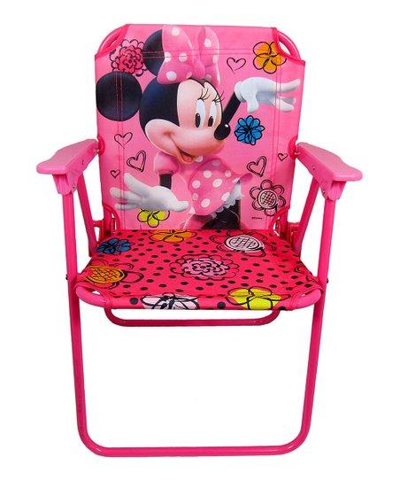 Stupendous Jakks Pacific Minnie Mouse Jet Set Canvas Folding Patio Chair Customarchery Wood Chair Design Ideas Customarcherynet