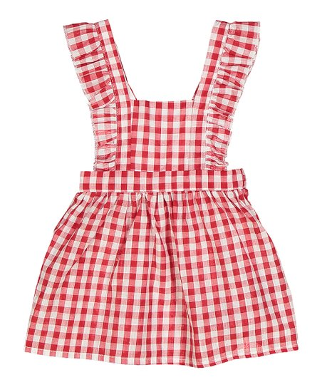 8f32d80ab3b7 Sweet & Soft Red & White Gingham Apron Dress - Infant | Zulily