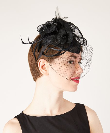 Black Teardrop Veil Fascinator Headband  a00809fc406