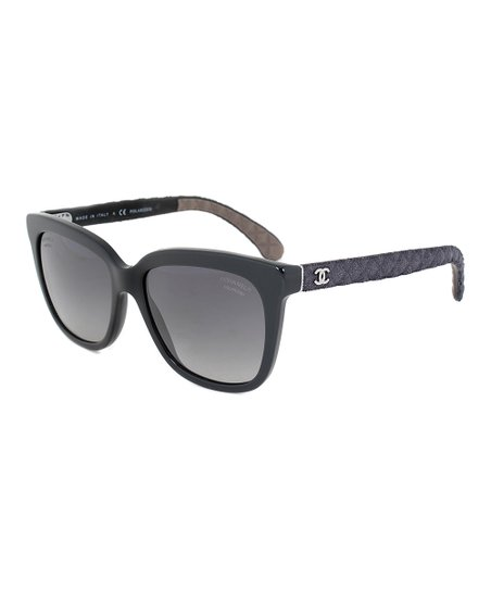 f1acc401d7 Chanel Black Square Quilted Polarized Sunglasses