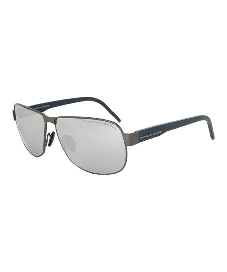 89f36ebe5540 love this product Matte Silver   Silver Mirror Rounded Rectangle Aviator  Sunglasses