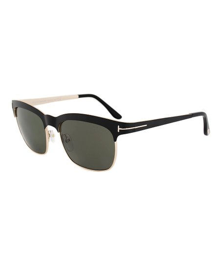 21564de288c love this product Matte Black   Green Elena Soft Square Polarized Sunglasses  - Women
