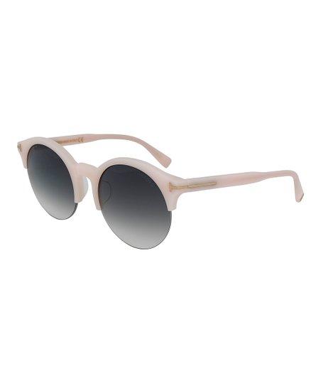 9a8b8bc65102d Tom Ford Blush Pink   Gray Gradient Half-Rim Round Sunglasses ...