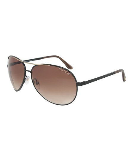 28d6008aa692 love this product Matte Black & Rose Gold Charles Round Aviator Sunglasses