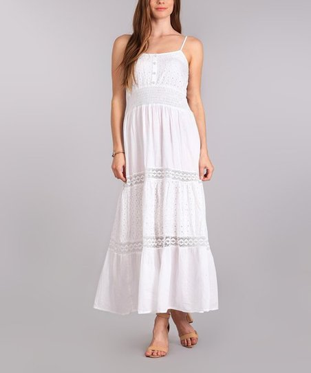9a3017cd508 love this product White Peasant Dress - Plus Too