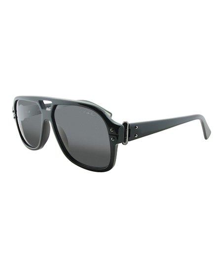 ab755d6d1f Lanvin Black Studded Shield Sunglasses