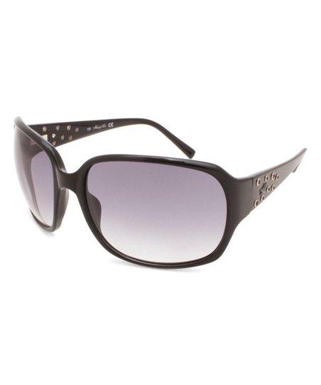 59bc7cef26 Kenneth Cole New York Black Gradient Studded Oversize Sunglasses ...