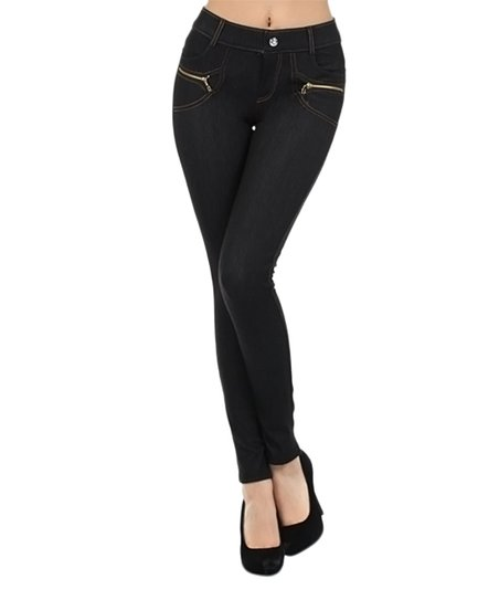 e2df981c153 Elegant Apparel Black Four-Pocket Jeggings