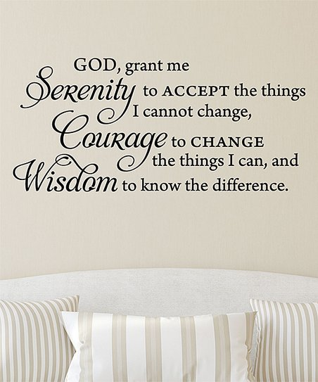 Wall Quotes™ by Belvedere Designs Serenity Prayer Wall Quotes™ Decal