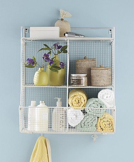 Love This Product White Four Bin Wire Hanging Shelf