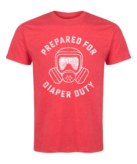 d4cbc34be LC trendz Mens Heather Red Prepared for Diaper Duty Tee - Mens ...