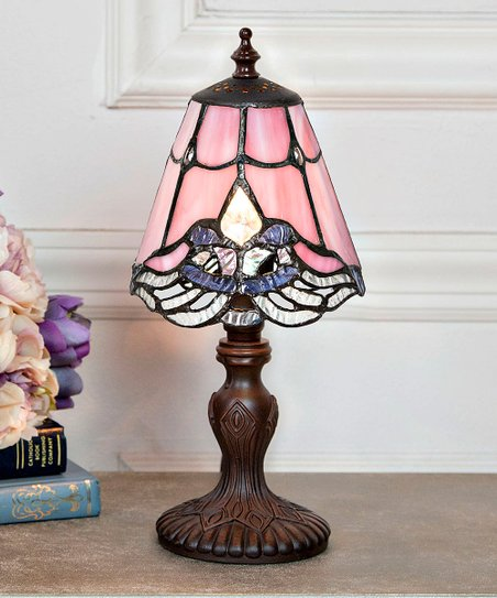 River Of Goods Pink Brown Mini Crystal Lace Table Lamp Zulily