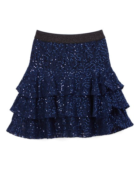 love this product Navy Sequin Lace Ruffle Skirt - Toddler   Girls cc6cba9972f8