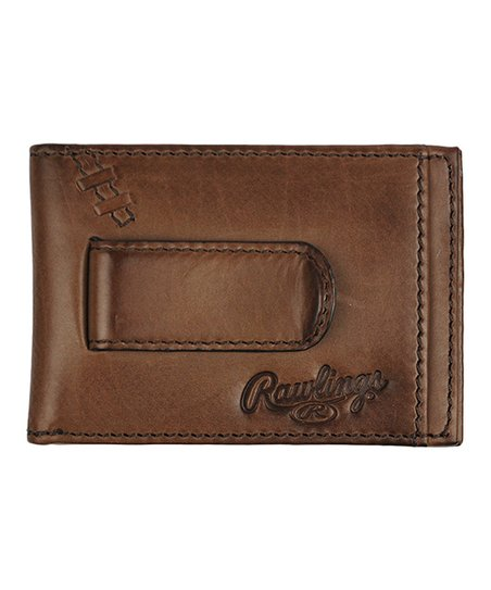 Rawlings Light Brown Legacy Front-Pocket Leather Wallet  ef3b4c1c7868a