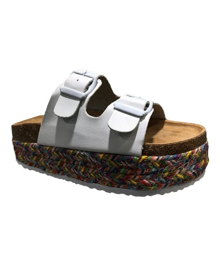 08e35d731770 love this product White Double-Buckle Gage Sandal