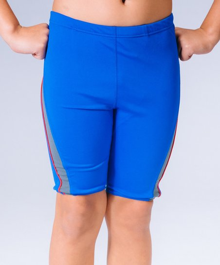 2dced6049 love this product Royal Blue & Gray Performance Swim Shorts - Boys
