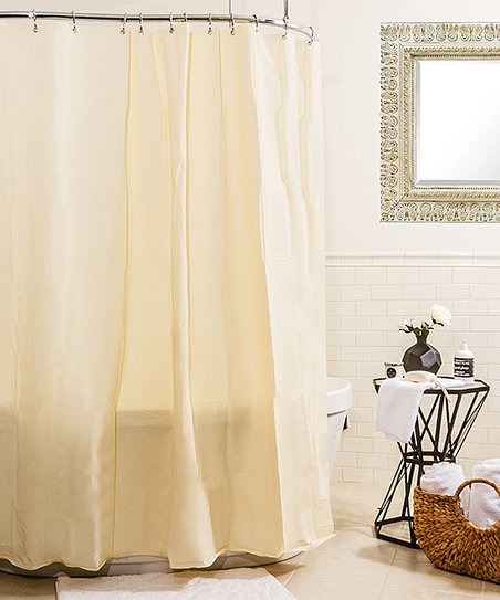 Beige Heavy Gauge Shower Curtain Liner