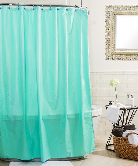 Fresh Blue Ascent Microfiber Shower Curtain Liner