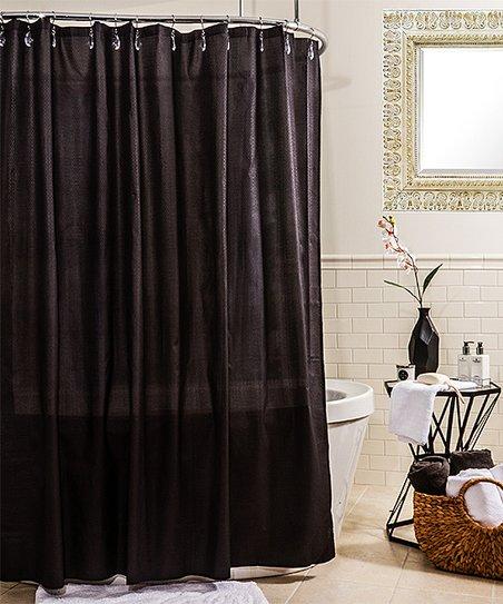 Black Ella Microfiber Shower Curtain Liner