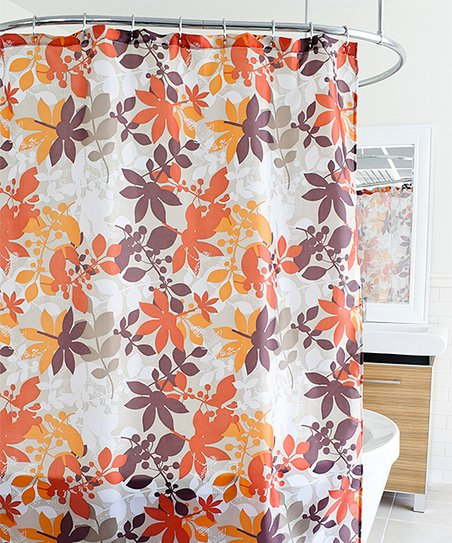 Earthy Floralie Shower Curtain