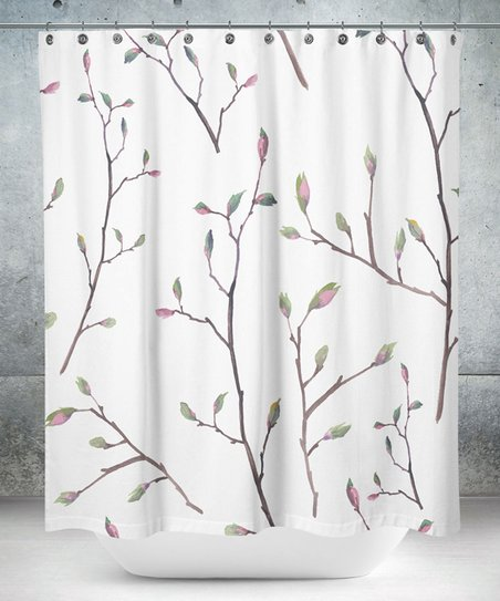 Love This Product White Brown Budding Tree Shower Curtain