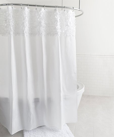 Love This Product White Bling Shower Curtain