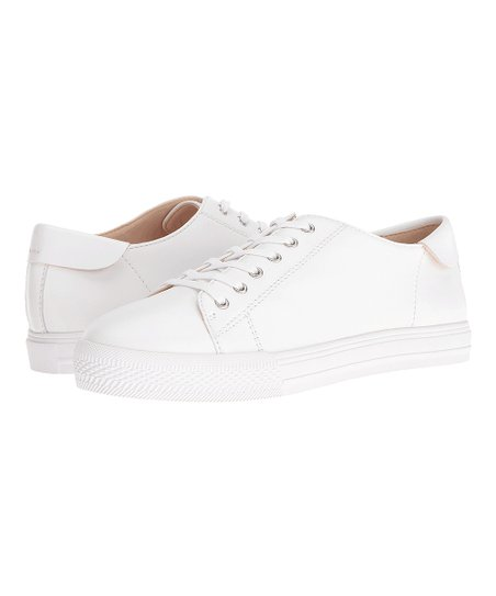 Nine West White Patrick Leather Sneaker