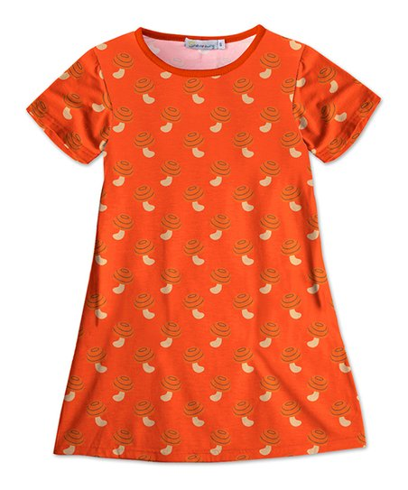 Sunshine Swing Orange Mushroom Shift Dress Toddler Girls Zulily