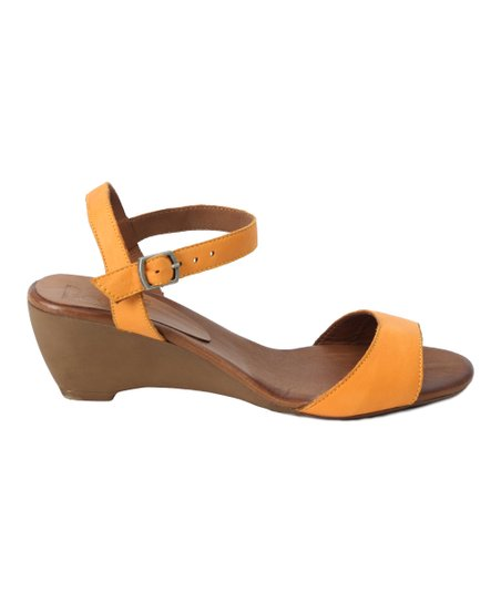 0a6f8ae0d92 love this product Mustard Leather Wedge Sandal - Women