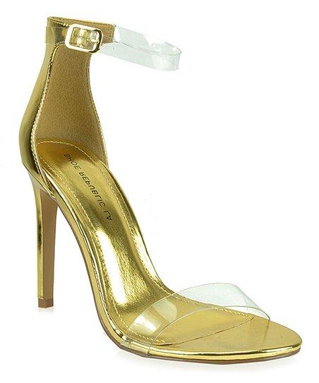 37760b108b9 Shoe Republic LA Gold   Clear Valletta Sandal Pump