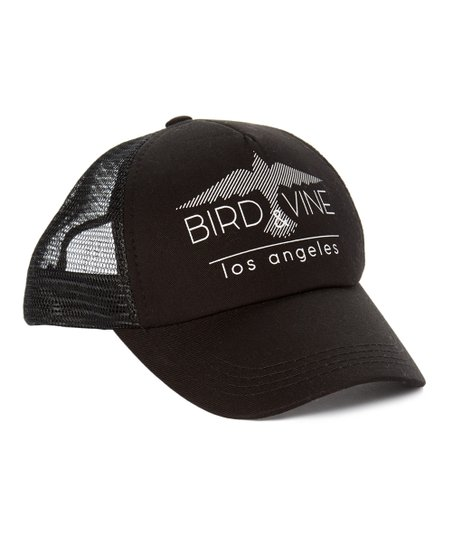 a7ce5feb love this product Black 'Bird & Vine' Logo Trucker Hat
