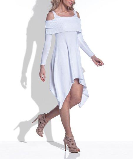 ddcb90ec955 love this product White Handkerchief Dress - Women