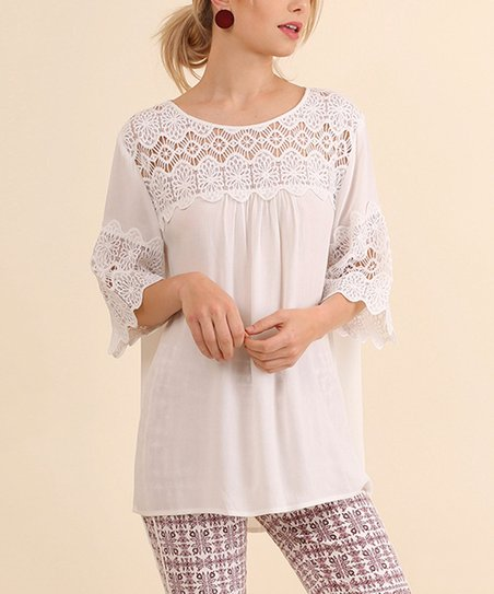 901cd4ffe7332 love this product Off-White Crochet-Detail Keyhole Top