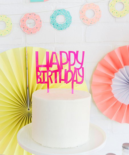 Love This Product Neon Happy Birthday Cake Topper