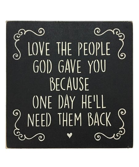 Saras Signs Black Love The People God Gave You Indooroutdoor Sign