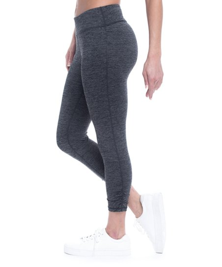 4b056fc7d1fcf Gaiam Heather Charcoal Om Yoga Capri Pants - Women & Plus | Zulily
