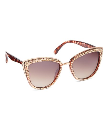 e2096abe693f JIMMY CRYSTAL NEW YORK Leopard Cat-Eye Sunglasses With Swarovski ...