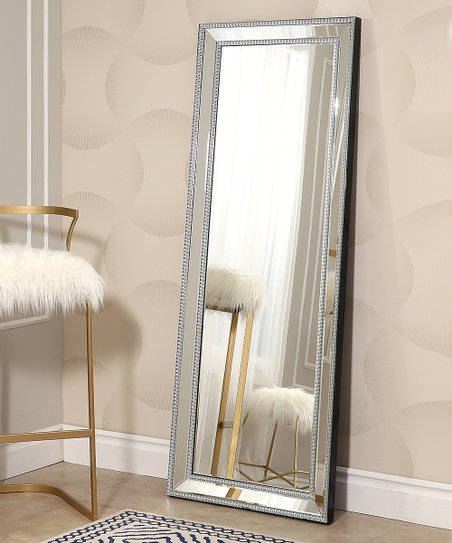 Silver Venice Studded Leaning Floor Mirror Zulily