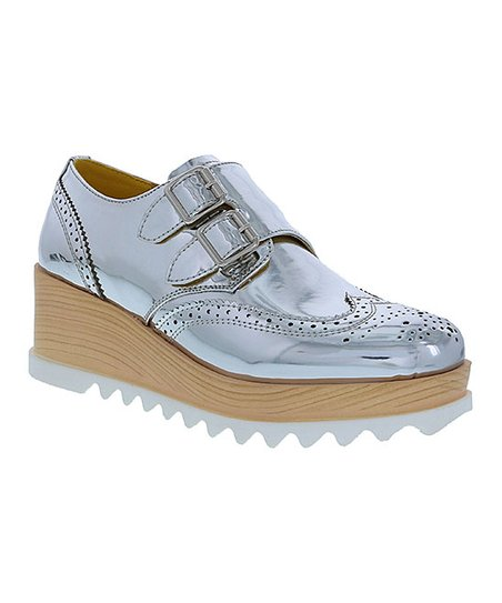 37716bf29c5 love this product Silver Frida Platform Oxford