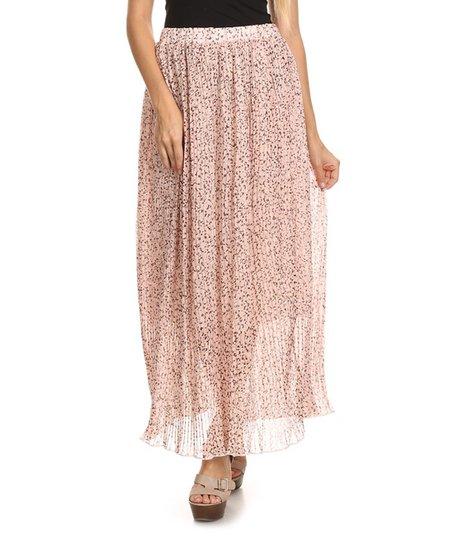 Nema Avenue Light Pink Speckled Maxi Skirt Zulily